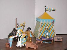 Playmobil 3654 Knight's Tournament Tent Squire Horse Weapons 99% Castle