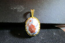 Fine Bone China Porcelain Pendant-Hand Painted Gold Tone-Arita Japan