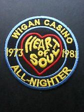 NORTHERN SOUL MUSIC SEW ON / IRON ON PATCH:- WIGAN CASINO (e) 1973-1981 SKY BLUE
