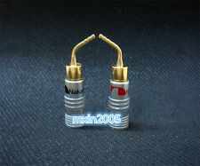 5Pairs 10PCS Pin 2mm Gold Plated Banana Plugs Speaker wire Connector Screw Lock