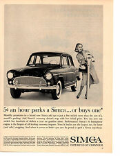 1961 SIMCA / IMPORTED BY CHRYSLER  ~  NICE ORIGINAL PRINT AD
