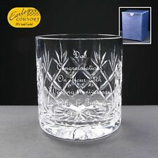 Personalised Whiskey Cut Glass Anniversary Gift,Silver,Gold,Diamond,Pearl,Ruby,