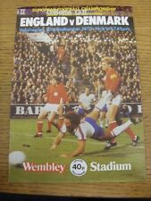 12/09/1979 England v Denmark [At Wembley] . Unless previously listed in brackets