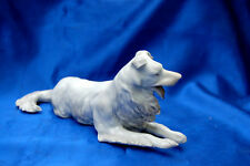 Antique porcelain GERMANY Border Collie Rough coated Herding Sheepdog numbered