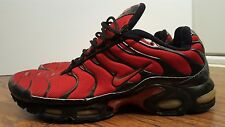 Nike Air Max Plus TN, 604133-601, Varsity Red/Black, Mens Running Shoes, Size 12