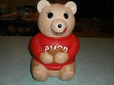 Vintage Avon Ted E Bear in Red Shirt Ceramic Cookie Jar Team Leader Award