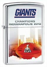 NFL NY GIANTS SUPER BOWL XLVI ZIPPO LIGHTER - NAME ENGRAVED FREE ON BACKSIDE