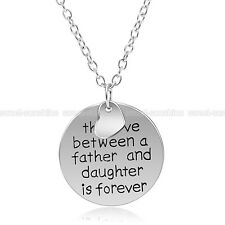 """The Love Between A Father And Daughter Is Forever"" Charm Necklace Family Gifts"