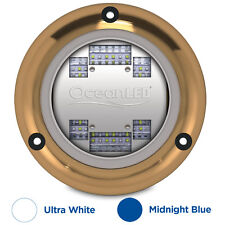 Ocean LED Sport S3124s Underwater Light Ultra White Midnight Blue Boat 012103BW