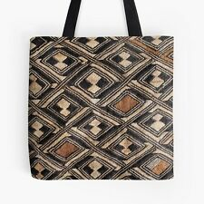 "EXCLUSIVE AFRICAN KUBA CLOTH DESIGN #1 TOTE BAG 16"" ~ Stunning Unique"
