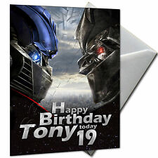 TRANSFORMERS - PERSONALISED  Birthday Card Large A5
