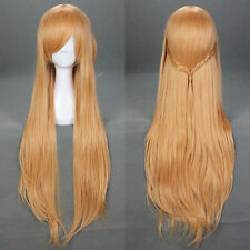 sale new 100cm/40 Inch Sword art online sao Asuna brown Cosplay animea wig
