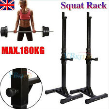Home Gym Standing Barbell Weight Rack. Squat Bench Deadlift Stand Dumbbell Bar