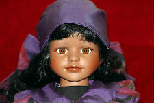 Bonita Muñeca Porcelana llamado Negro Jade Leonardo Collection
