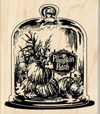 """Pumpkin Patch Thanksgiving Dinner Invitation Fall  wood rubber stamp  3.5x3.25"""""""