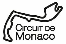 MONACO RACE CIRCUIT. Car vinyl sticker F1 French Grand Prix Formula One