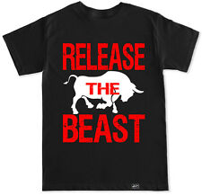 RELEASE THE BEAST GYM WORKOUT MUSCLE FIT FITNESS SQUAT LIFT BENCH TRAIN T SHIRT