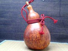 Japanese Hyotan Old Natural Gourd sake Bottle Calabash Green Tea Ceremony m0180