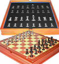 Staunton Themed Chess Set. Weighted Pieces / Wood Board and Box