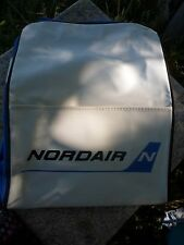 Vintage 1970's NORDAIR Flight Shoulder Cabin Bag Stewardess Travel Bag Flight