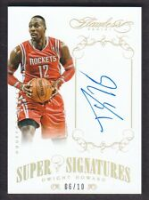 2013-14 Panini Flawless Super Signatures Gold #SS-DH Dwight Howard 06/10 Auto