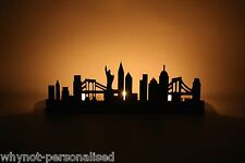 NYC New York City skyline outline tea light holder home decoration WhyNot?