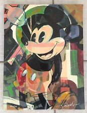 Disney Fine Art Jim Salvati Mickey Mouse High Five Giclee On Canvas Limited Ed.