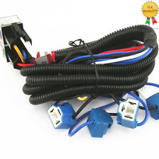 OEM Ceramic H4 Headlight Relay Wiring Harness 4 Headlamp Light Bulb Socket Plug