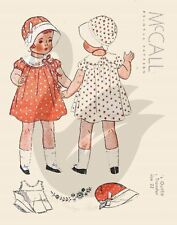 "Reproduction Vintage Doll Clothes Sewing Pattern McCall 22"" Doll"