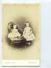(Ga2283-461) Real Photo CDV by Poole & Sons of Teignmouth c1870 EX Two Girls