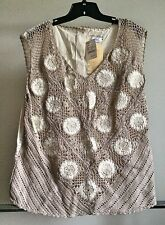 NEW International Apparel Mart Inc. womens Vintage Blouse size 3X $295 Designer