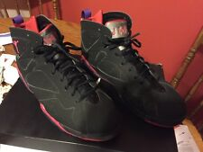 Nike Air Jordan VII Retro 7 Raptor Black Red Charcoal Purple 304775-018 Sz 11.5