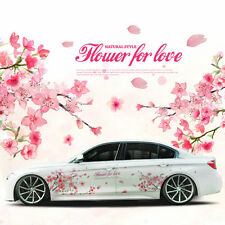 1 pair colorful cherry blossom car sticker lovely auto body flower decal emblems