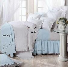 Queen Quilt Bed Set Ocean Blue Shabby Hamptons French Chic Provincial Bedspread