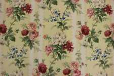 Brunschwig & Fils curtain fabric design Sybilla yellow 1.9 metres chintz floral
