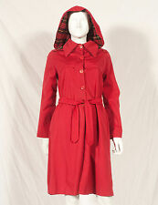 '70'S FRENCH VINTAGE WINTER RAINCOAT WITH HOOD UK 6 SMALL 8