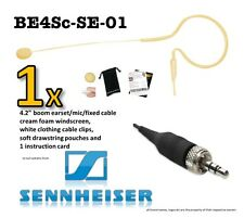 BE4Sc-SE Cream Earhook Headset Earset Microphone - SENNHEISER wireless ew100 etc