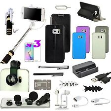 21in1 Accessory Bundle Kit Case Charger Fish Eye Monopod For Samsung Galaxy S6