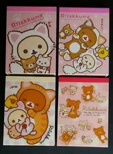 San-x Rilakkuma Cats Mini Memo Pad Lot Stationery Kawaii