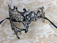 Black Phantom Metal Laser Cut Venetian Halloween Ball Masquerade Party Mask NEW