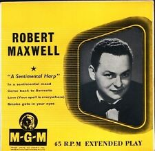 "ROBERT MAXWELL a sentimental harp 4 track ep MGM EP 536 uk mgm 7"" PS EX/EX"