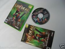 Evil Dead Regeneration Complete Original XBOX 1 Video Game System DISK FLAWLESS
