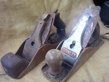 2 x vintage Stanley No 4 1/2 planes from shed clearance see other planes