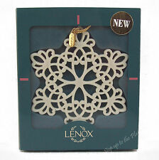 Lenox China 1997 SNOWFLAKE Snow Fantasies Christmas Tree Holiday Ornament MIB