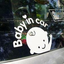 Baby In Car Waving Baby on Board Safety Sign Car Decal / Sticker White New