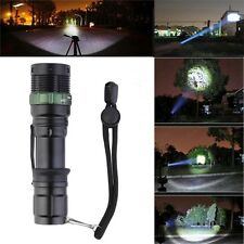 High Power 3000Lumen Zoomable LED Flashlight Torch Zoom Light Adjustable LO