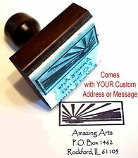 Sunrise Rubber Stamp With Custom Address/Message