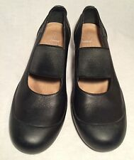 Camper Womens Black Nubuck Leather  Mary Jane Heels  Size 40 US 9