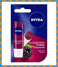 Nivea Caring Lip Balm Blackberry Shine Cares and Delights 5,5 ml /4,8 g