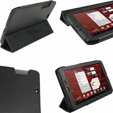 "Motorola Xoom 2 Android Tablet De 10.1 ""Pu Leather Case & Stand Negro"